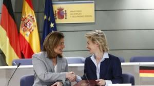 El acuerdo que firmaron Bañez y su homóloga alemana para dar empleo a 5000 jóvenes, no gustó